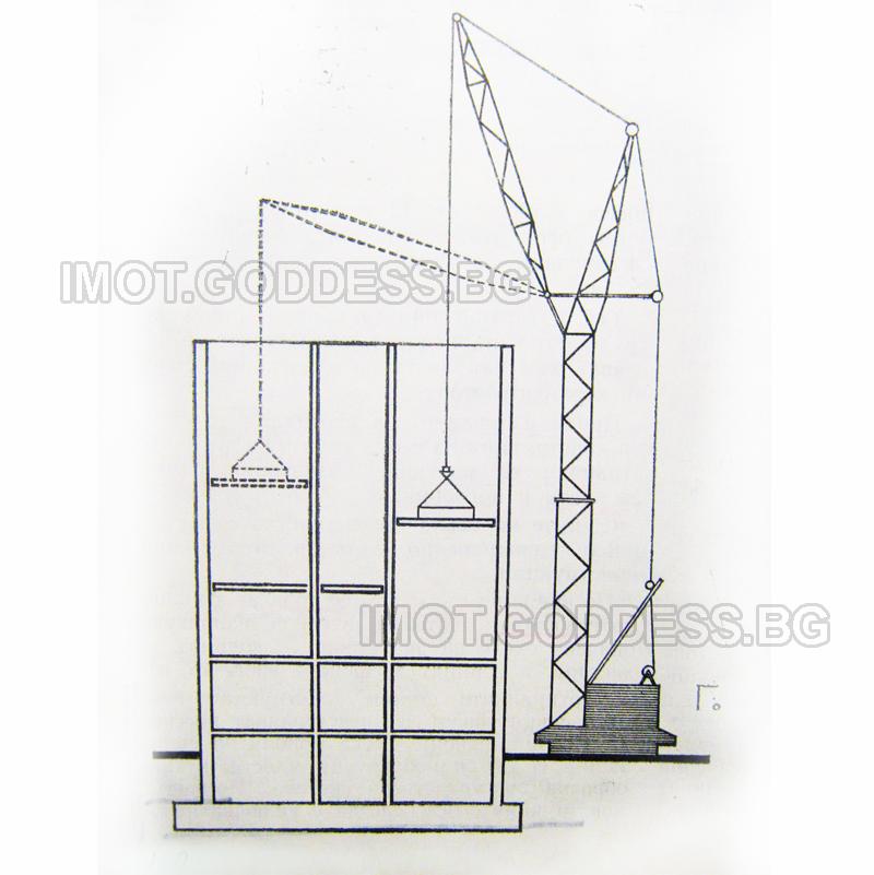 Монтаж и предварително изработени подови елементи след завършване на стенните конструкции по цялата височина на сградата